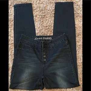 NWOT Almost Famous Stretch Jeggings size 5